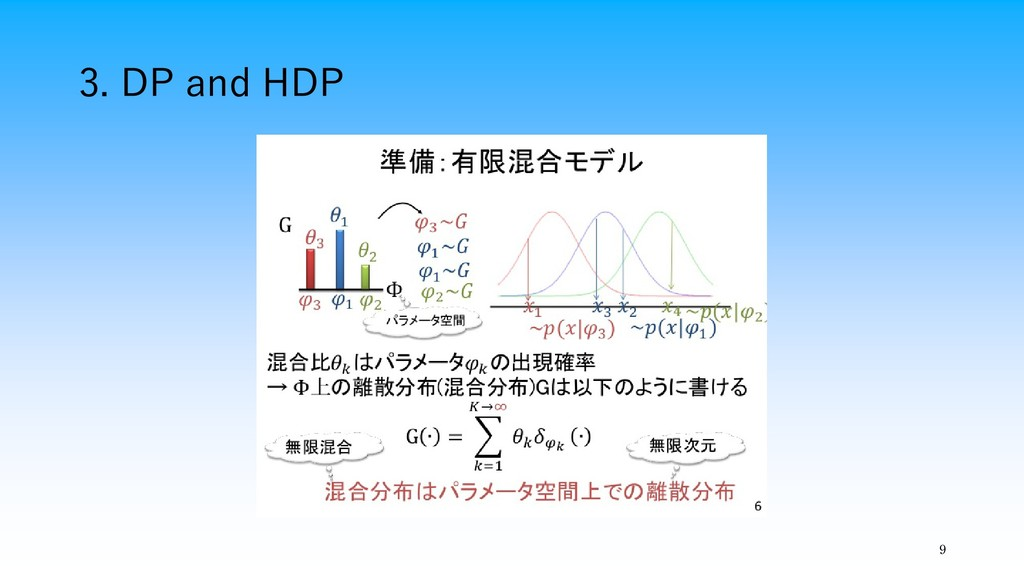 3. DP and HDP 9