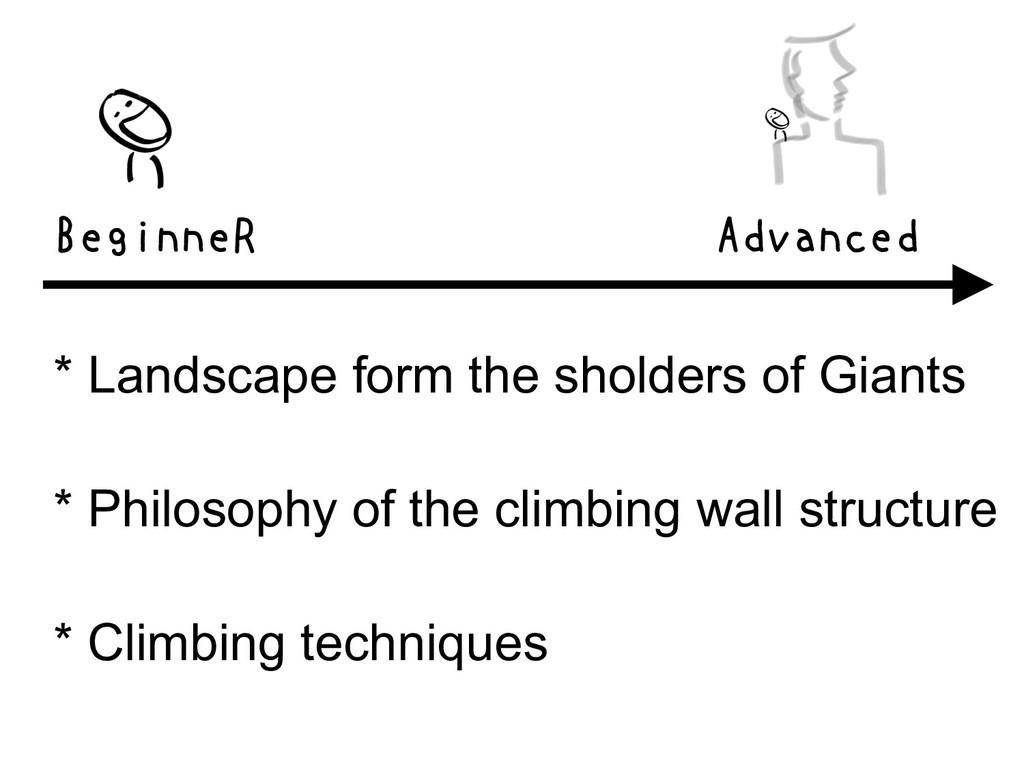 BeginneR Advanced * Landscape form the sholders...