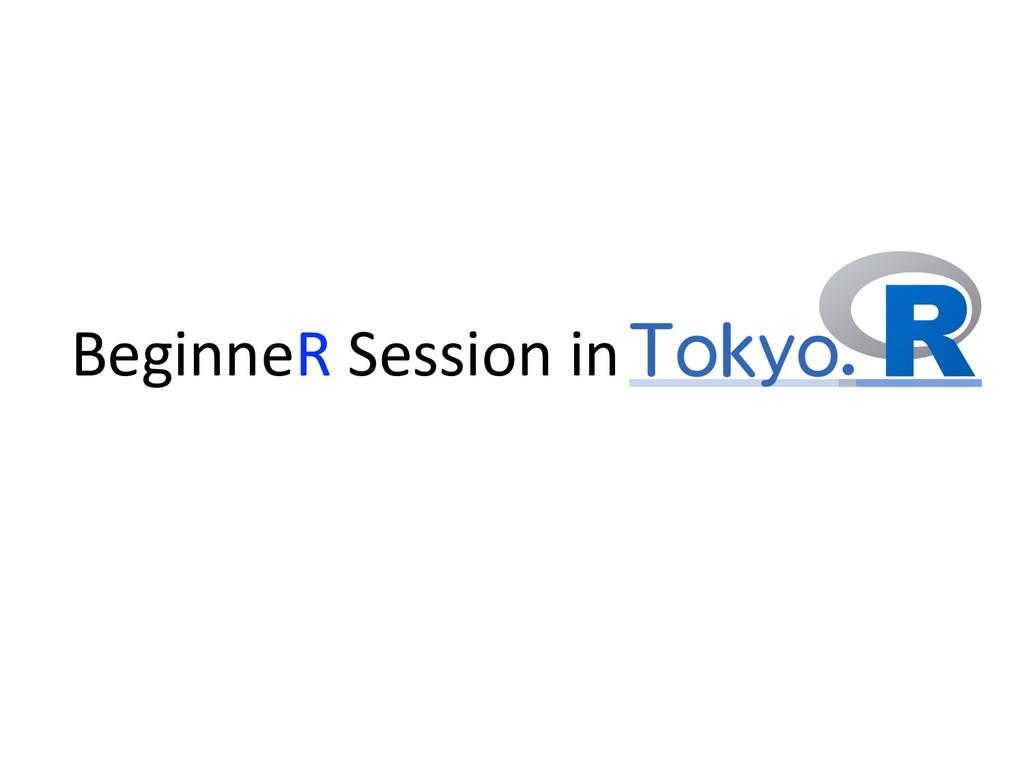 BeginneR Session in