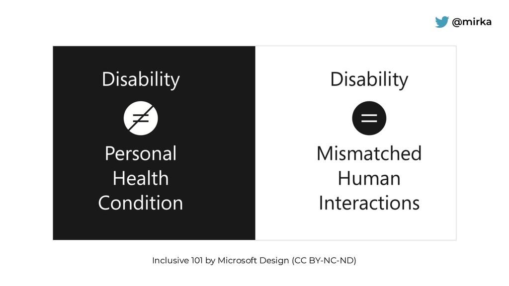 @mirka Inclusive 101 by Microsoft Design (CC BY...