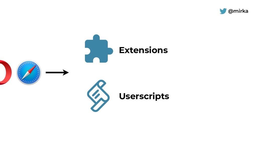 @mirka Extensions Userscripts