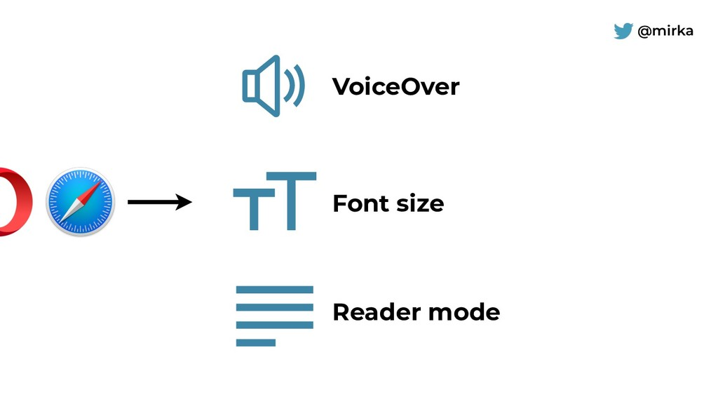 @mirka Reader mode VoiceOver Font size