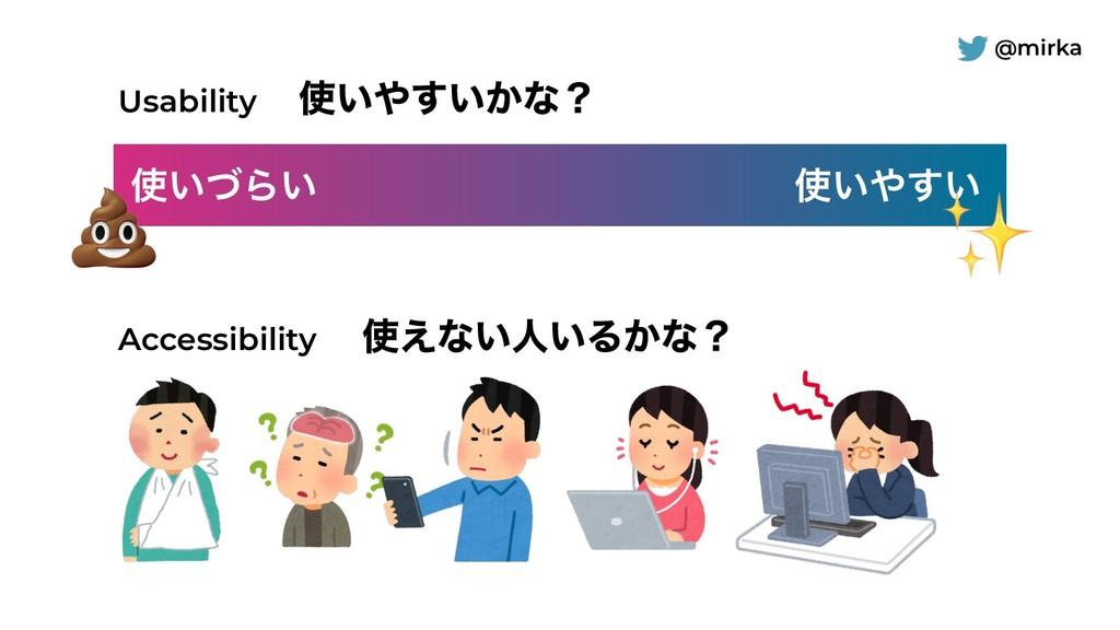 @mirka ͍ͮΒ͍ ͍͍͢ Accessibility Usability ͍͢...