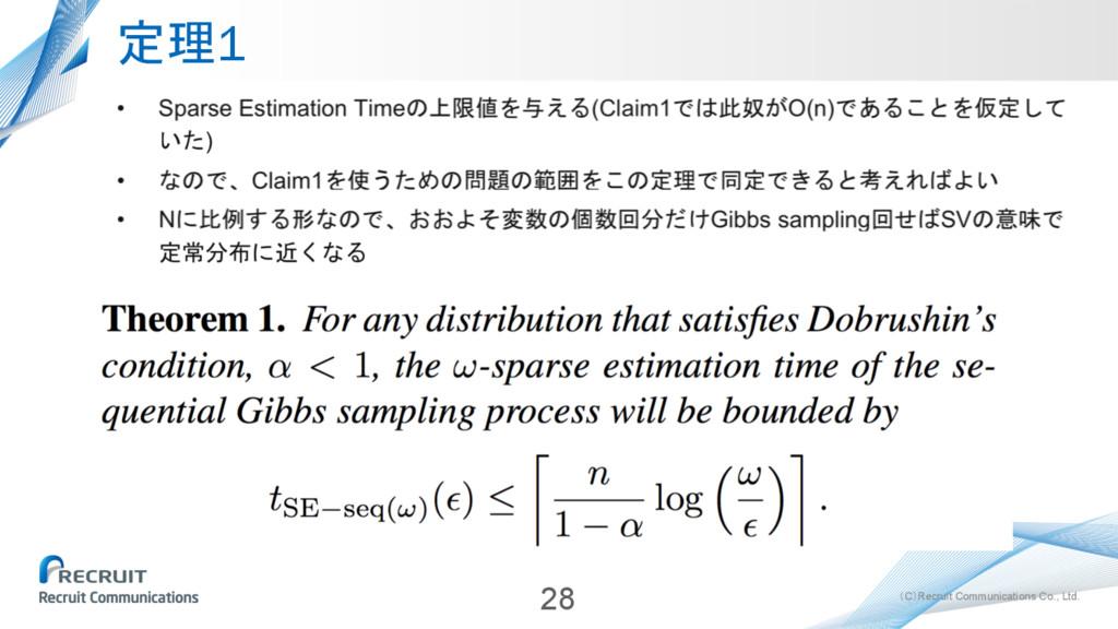 (C)Recruit Communications Co., Ltd. 定理1 28
