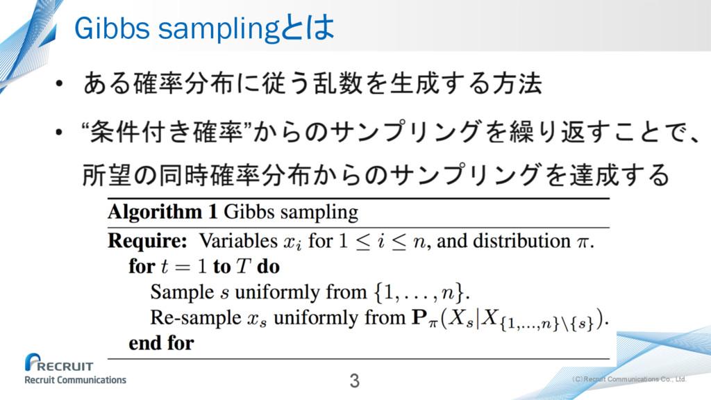 (C)Recruit Communications Co., Ltd. Gibbs sampl...