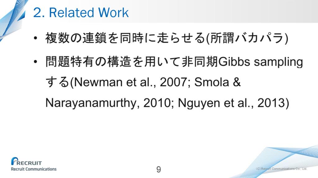 (C)Recruit Communications Co., Ltd. 2. Related ...