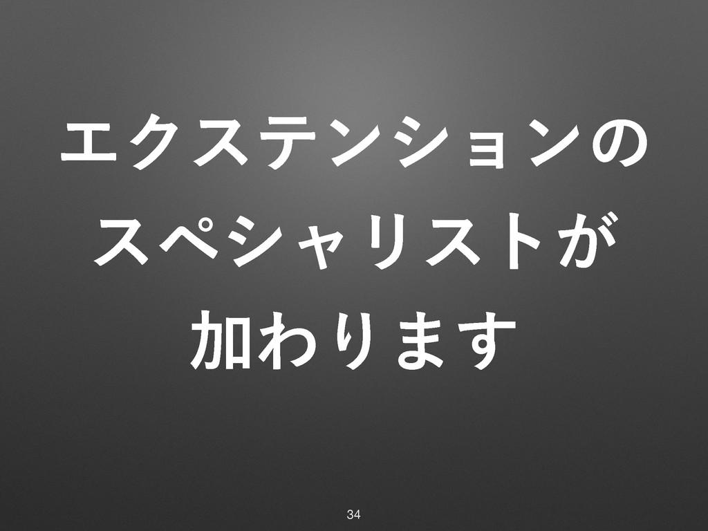 ΤΫεςϯγϣϯͷ εϖγϟϦετ͕ ՃΘΓ·͢ 34
