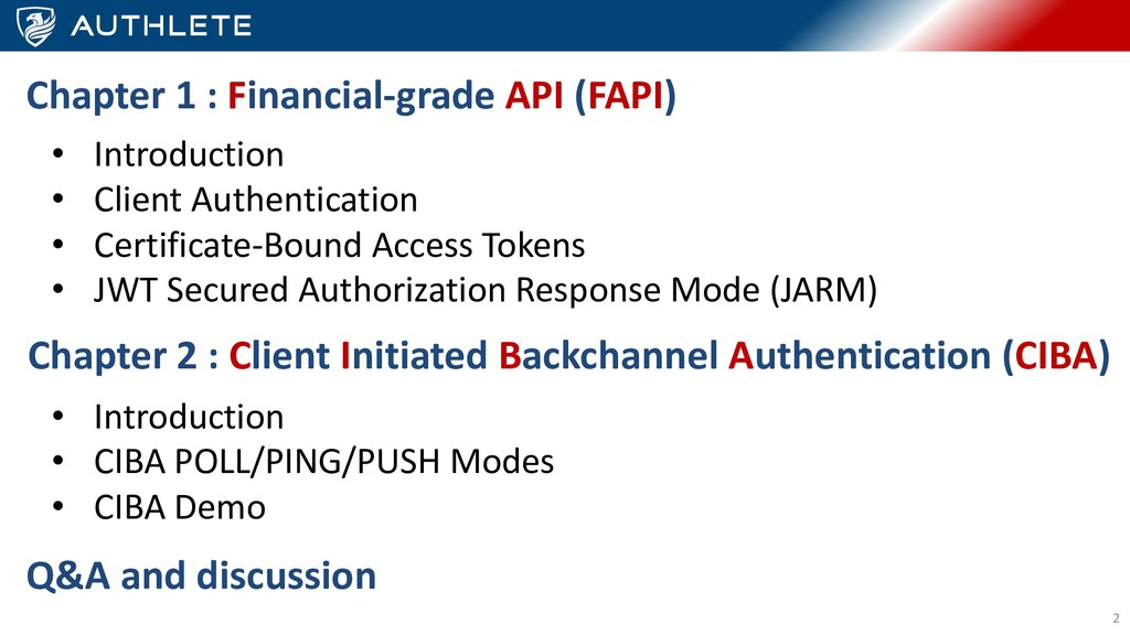 2 Chapter 1 : Financial-grade API (FAPI) • Intr...