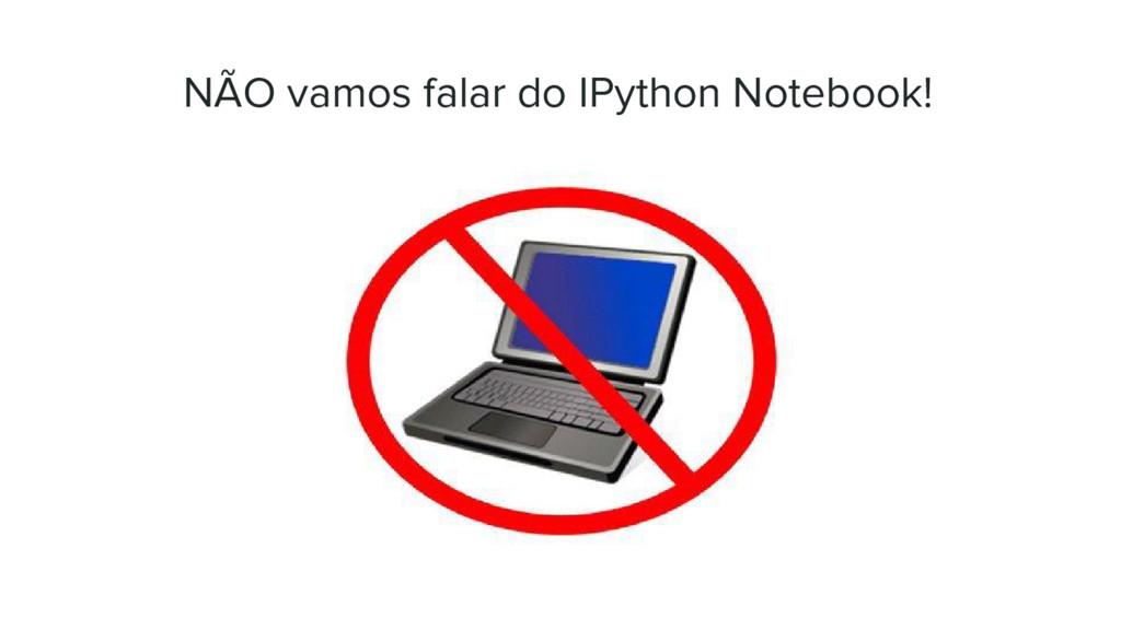 NÃO vamos falar do IPython Notebook!