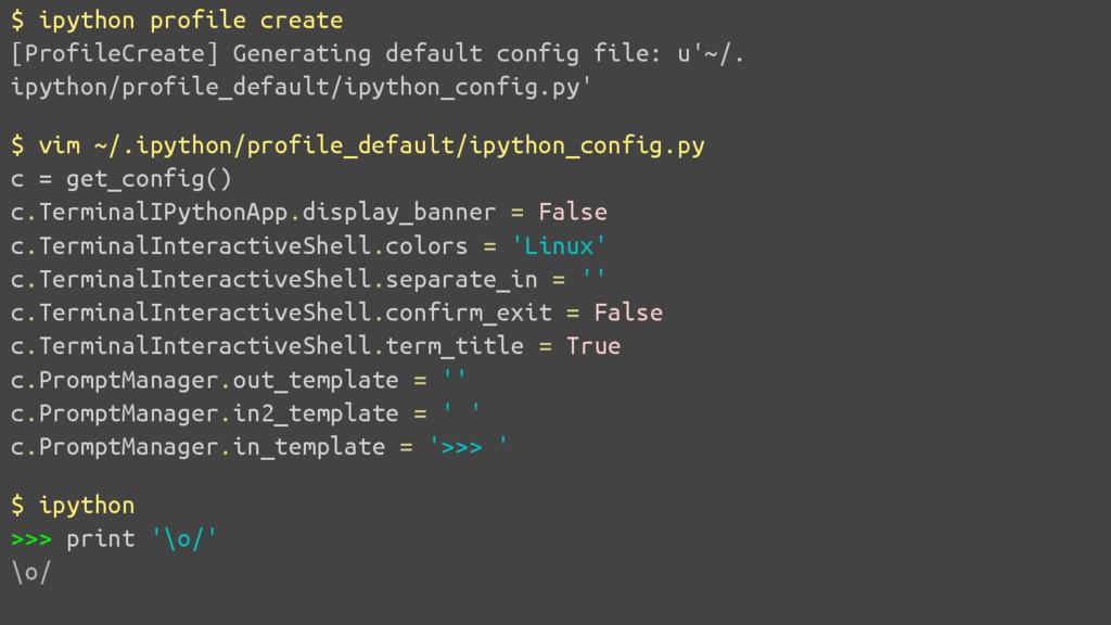 Configurando para parecer o shell Python padrão...