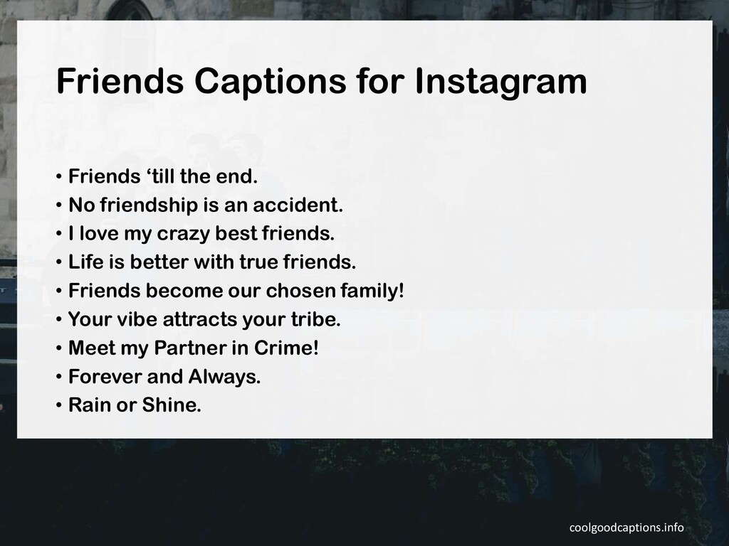 Friends Captions for Instagram • Friends 'till ...