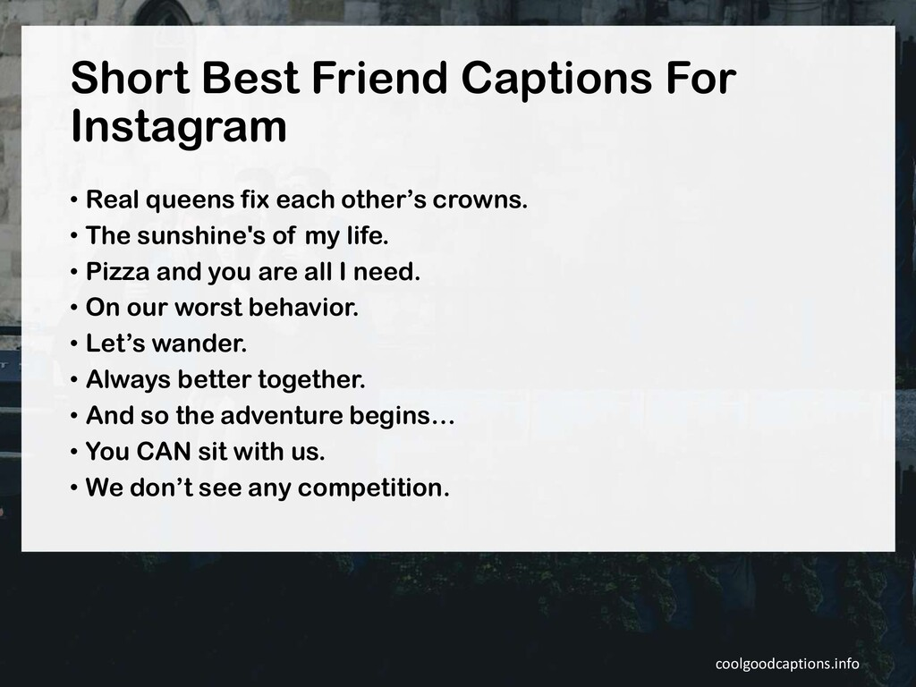 Short Best Friend Captions For Instagram • Real...