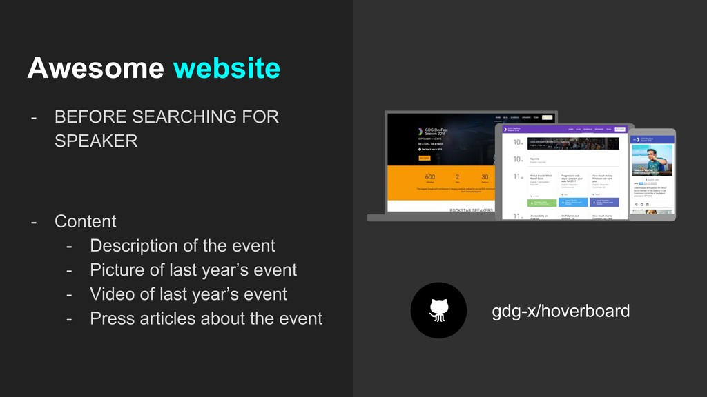 Awesome website - BEFORE SEARCHING FOR SPEAKER ...