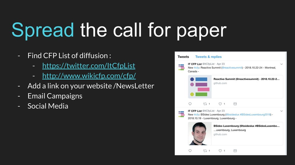 Spread the call for paper - Find CFP List of di...