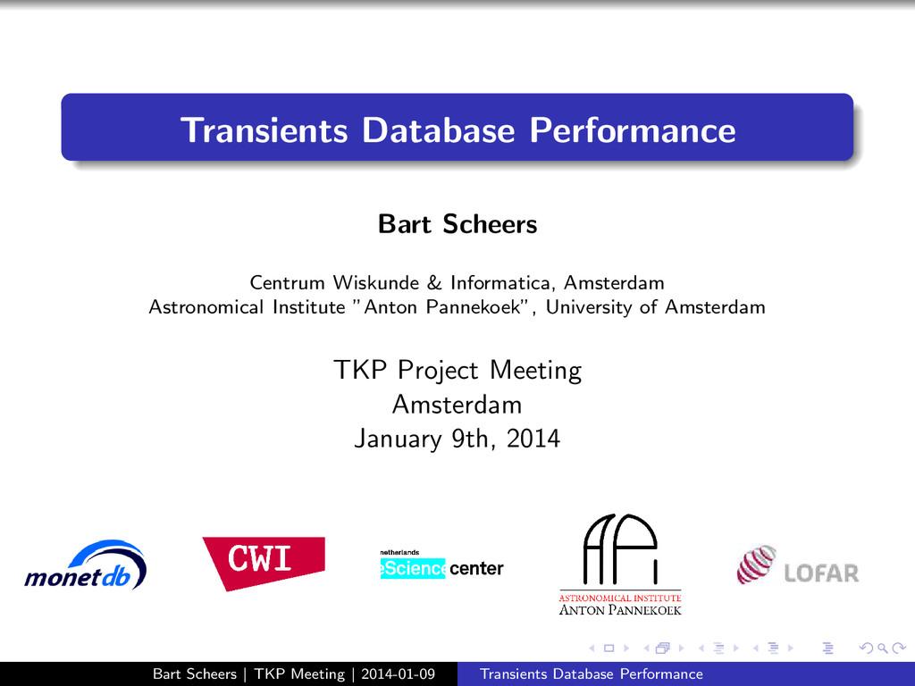 Transients Database Performance Bart Scheers Ce...