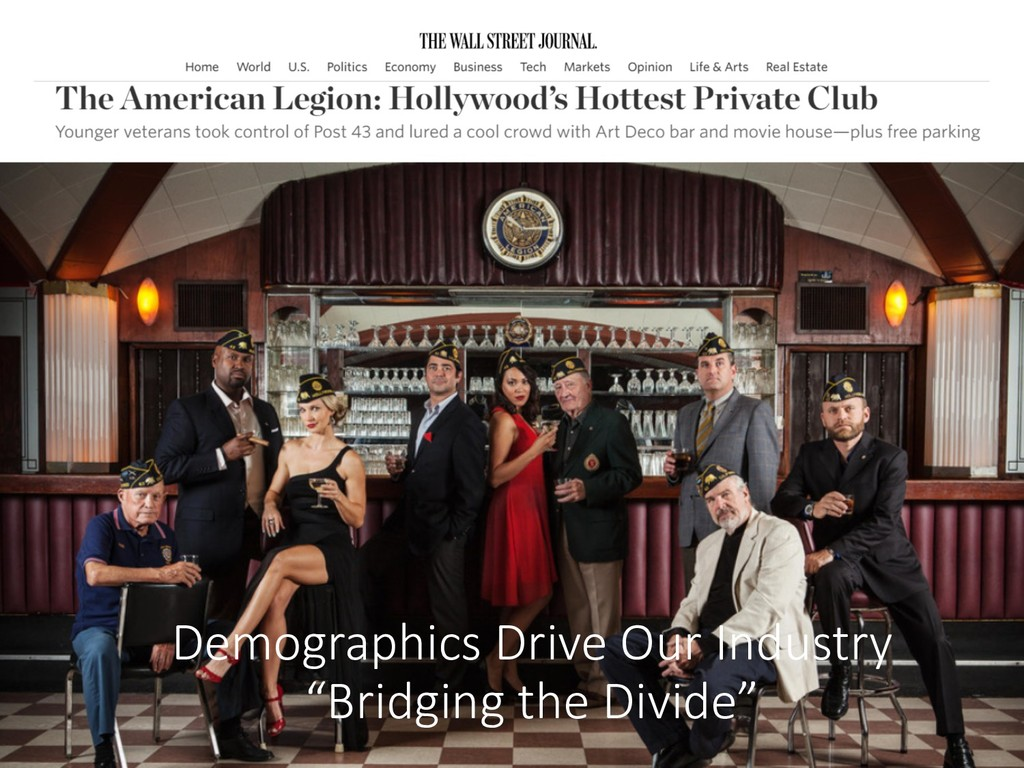 """Demographics Drive Our Industry """"Bridging the D..."""