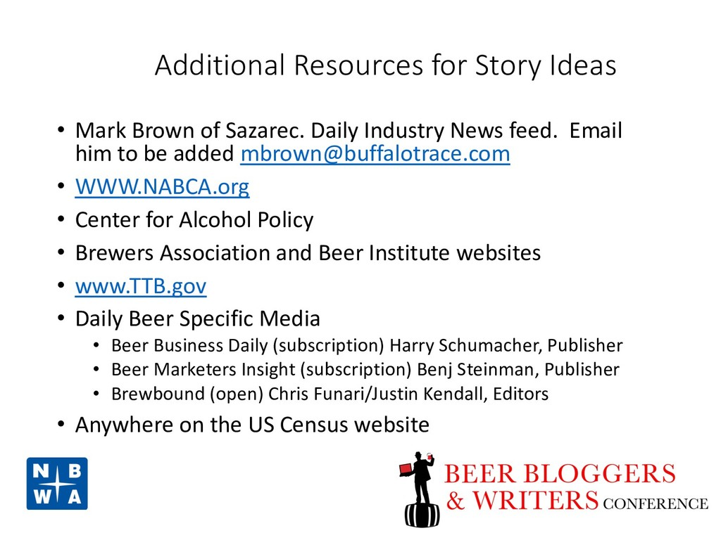 Additional Resources for Story Ideas • Mark Bro...