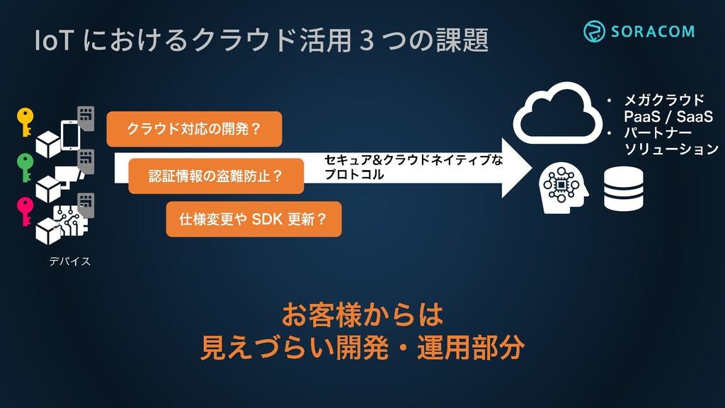 IoT におけるクラウド活用 3 つの課題 • •