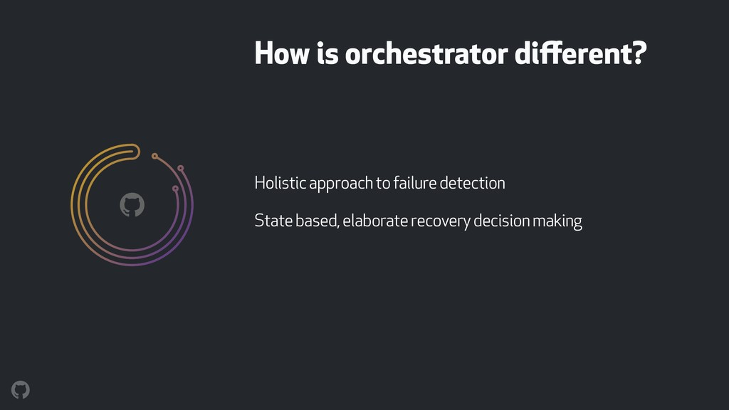 How is orchestrator different? Holistic approach...