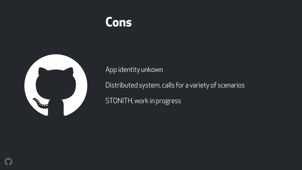Cons App identity unkown Distributed system, ca...