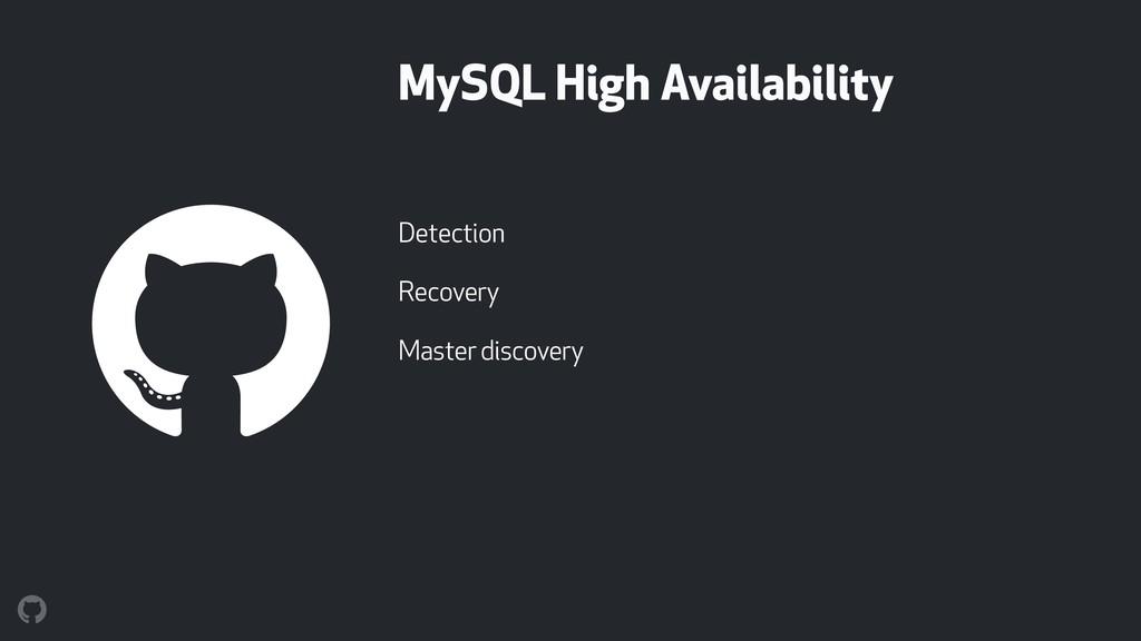 MySQL High Availability Detection Recovery Mast...