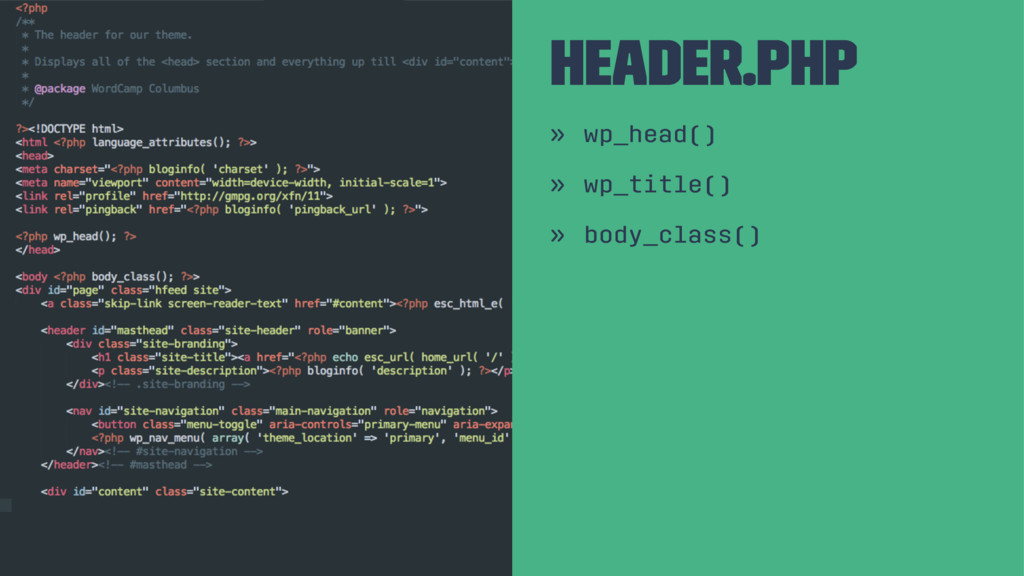 Header.php » wp_head() » wp_title() » body_clas...
