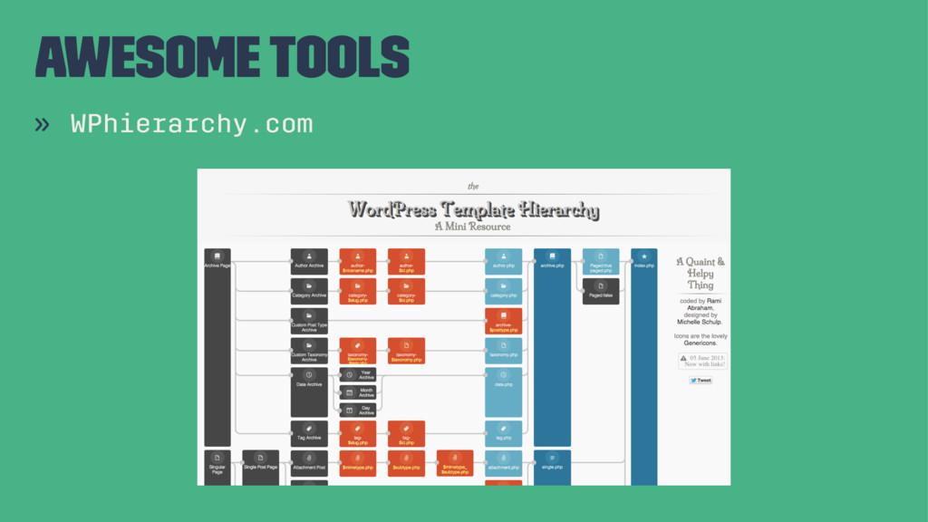 Awesome Tools » WPhierarchy.com