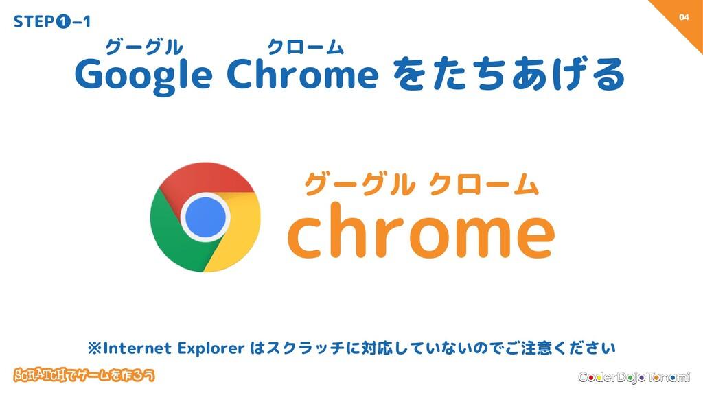04 STEP❶−1 Google Chrome をたちあげる グーグル クローム グーグル ...