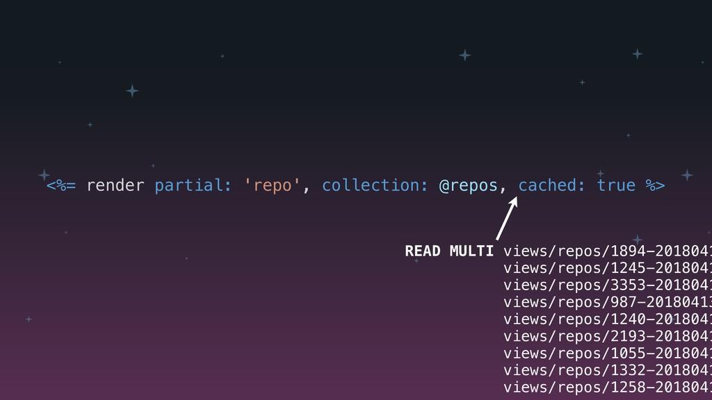 <%= render partial: 'repo', collection: @repos,...