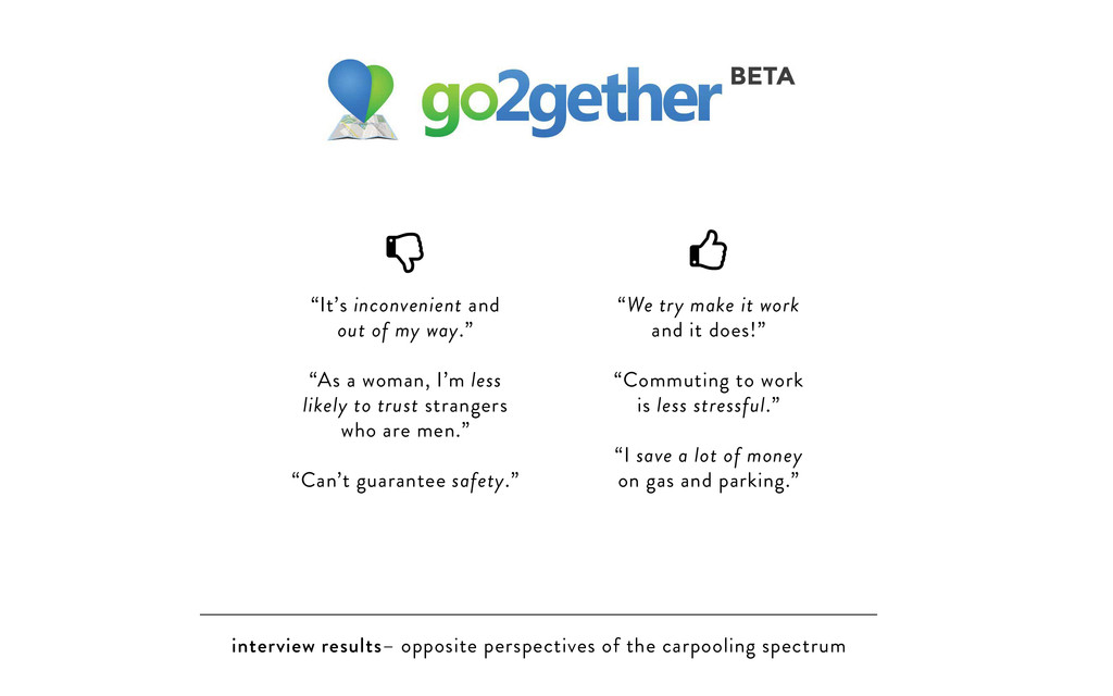 interview results– opposite perspectives of the...