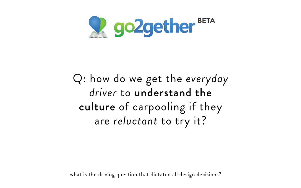 what is the driving question that dictated all ...