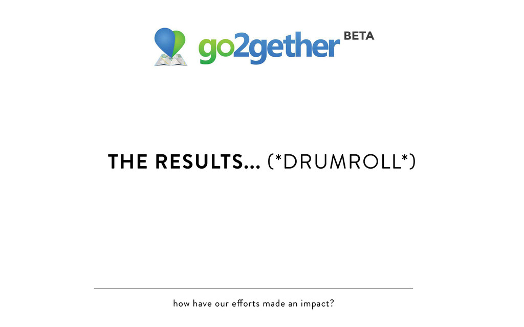 how have our e orts made an impact? THE RESULTS...