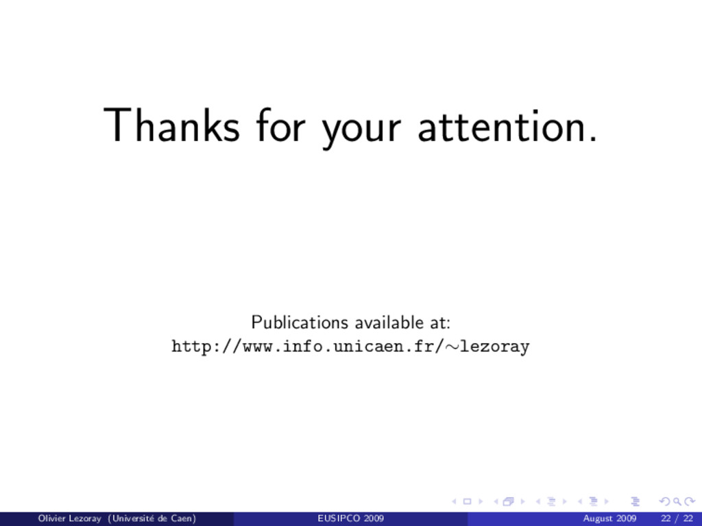 Thanks for your attention. Publications availab...
