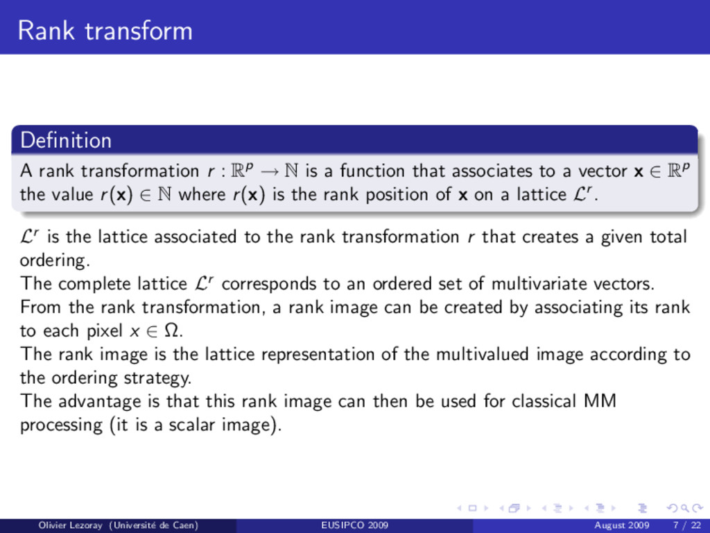 Rank transform Definition A rank transformation ...