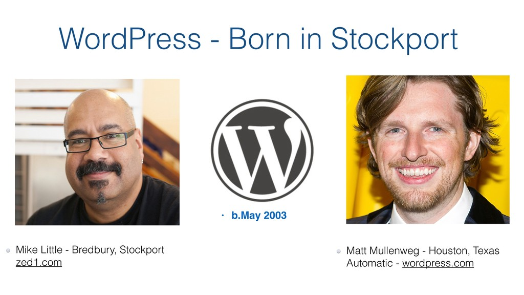 WordPress - Born in Stockport Mike Little - Bre...