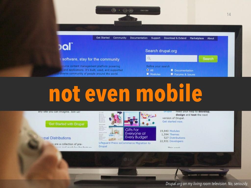 Drupal.org on my living room television. No, se...