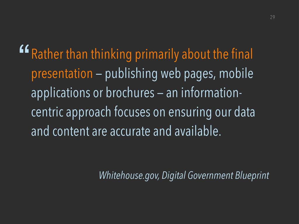 """Whitehouse.gov, Digital Government Blueprint """"R..."""