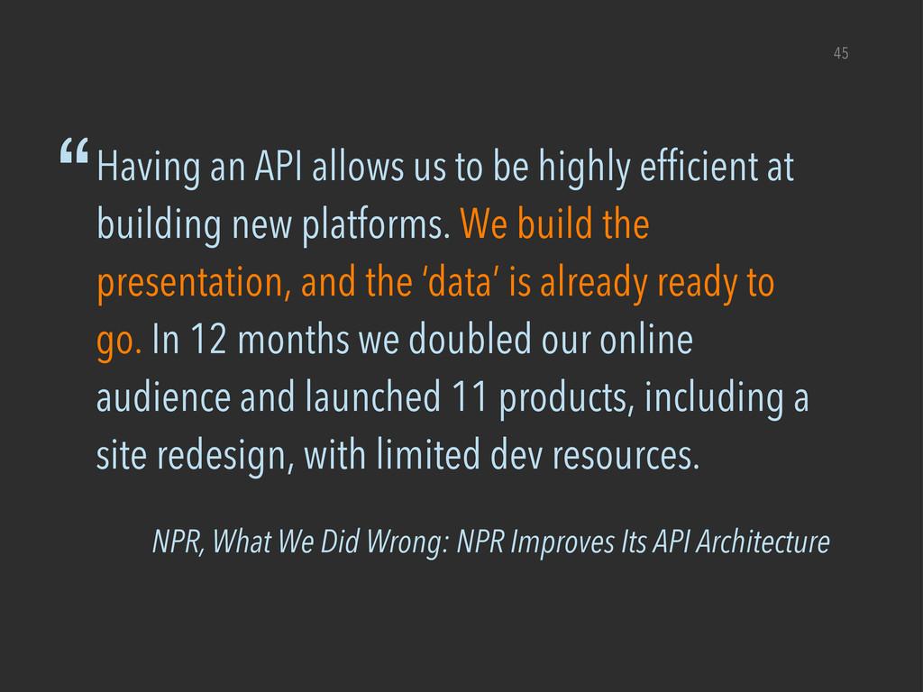 NPR, What We Did Wrong: NPR Improves Its API Ar...