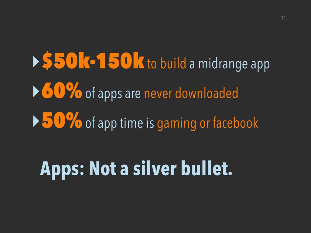 11 ‣$50k-150k to build a midrange app ‣60% of a...