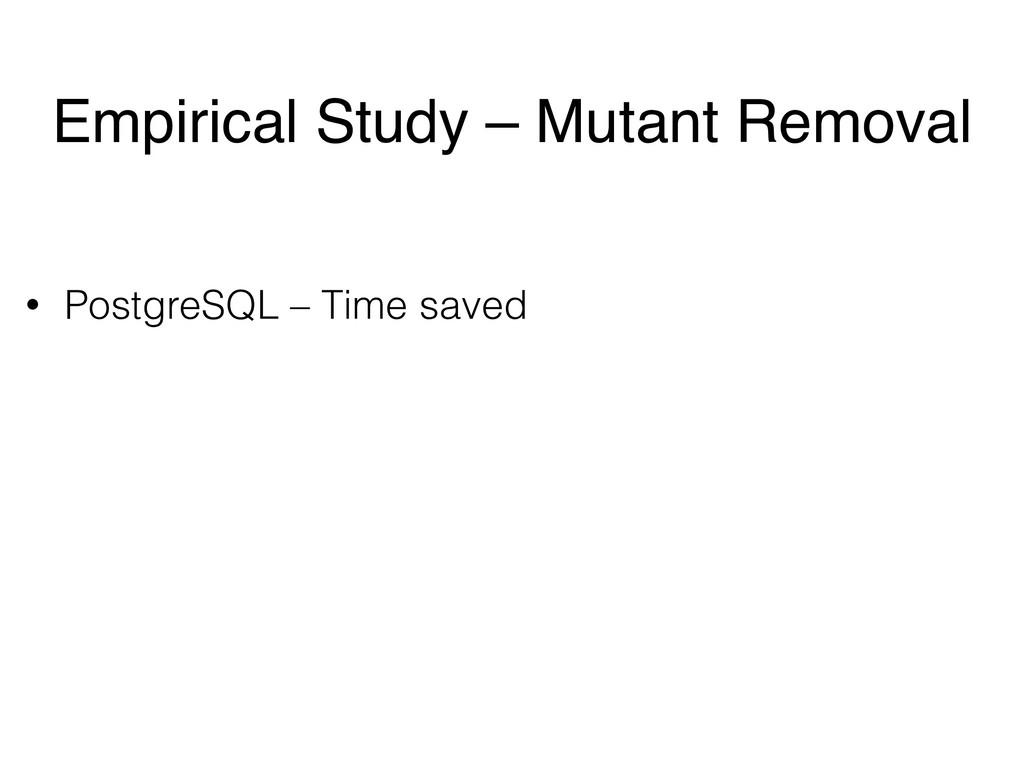 • PostgreSQL – Time saved Empirical Study – Mut...