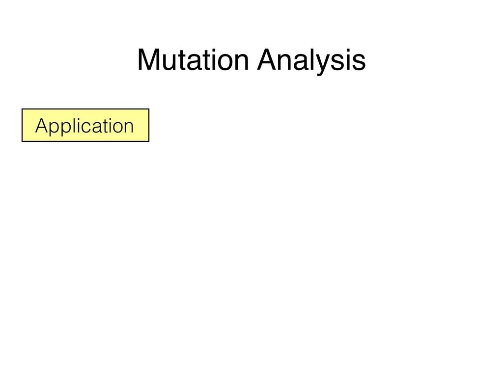 Mutation Analysis Application