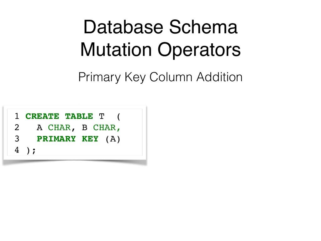 Database Schema Mutation Operators Primary Key ...