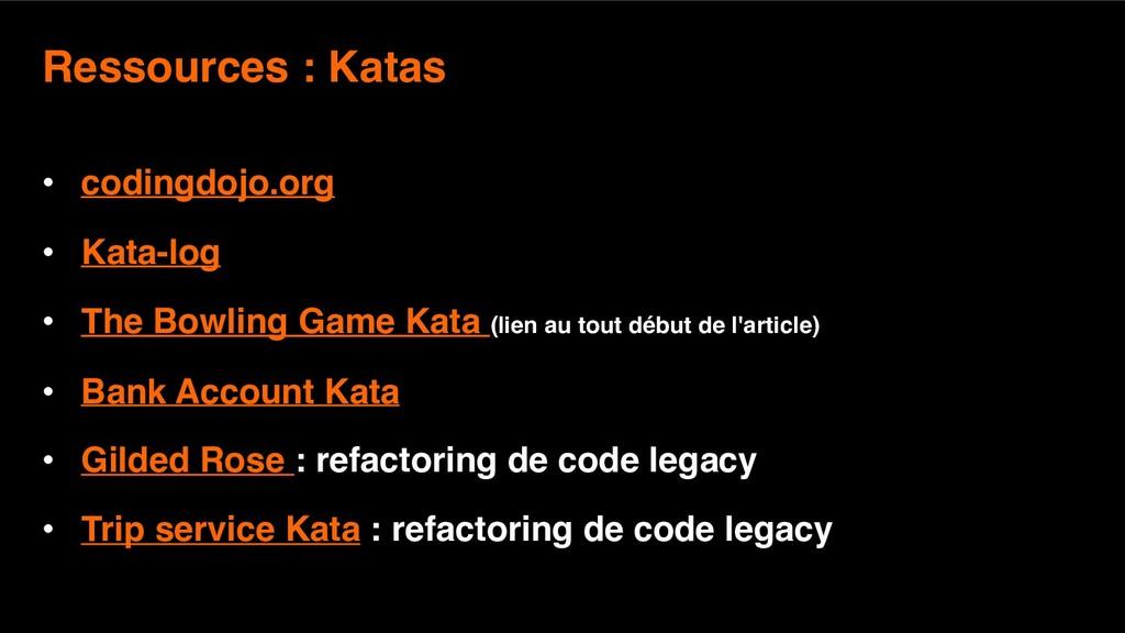 11 Ressources : Katas  • codingdojo.org • Kata...
