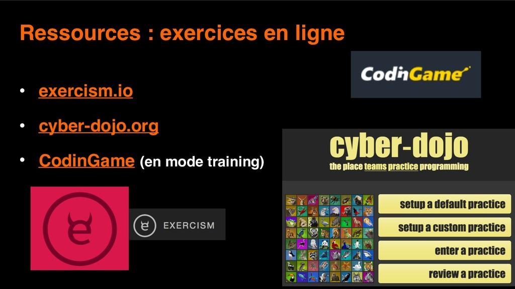 12 Ressources : exercices en ligne  • exercism...