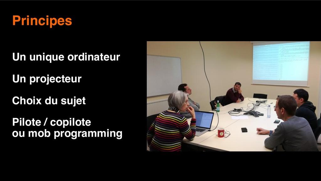 7 Principes  Un unique ordinateur Un projecteu...
