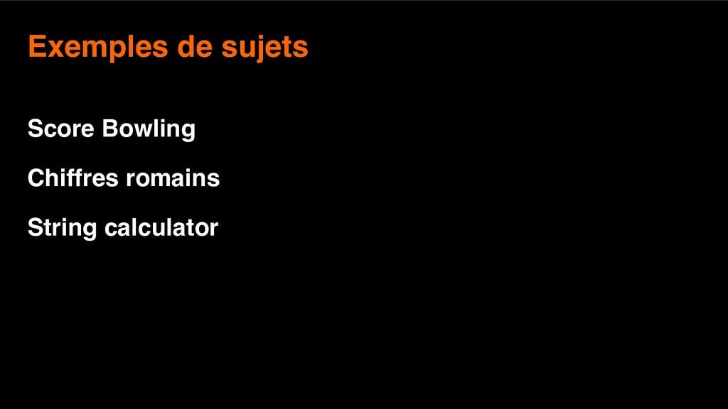 8 Exemples de sujets  Score Bowling Chiffres r...