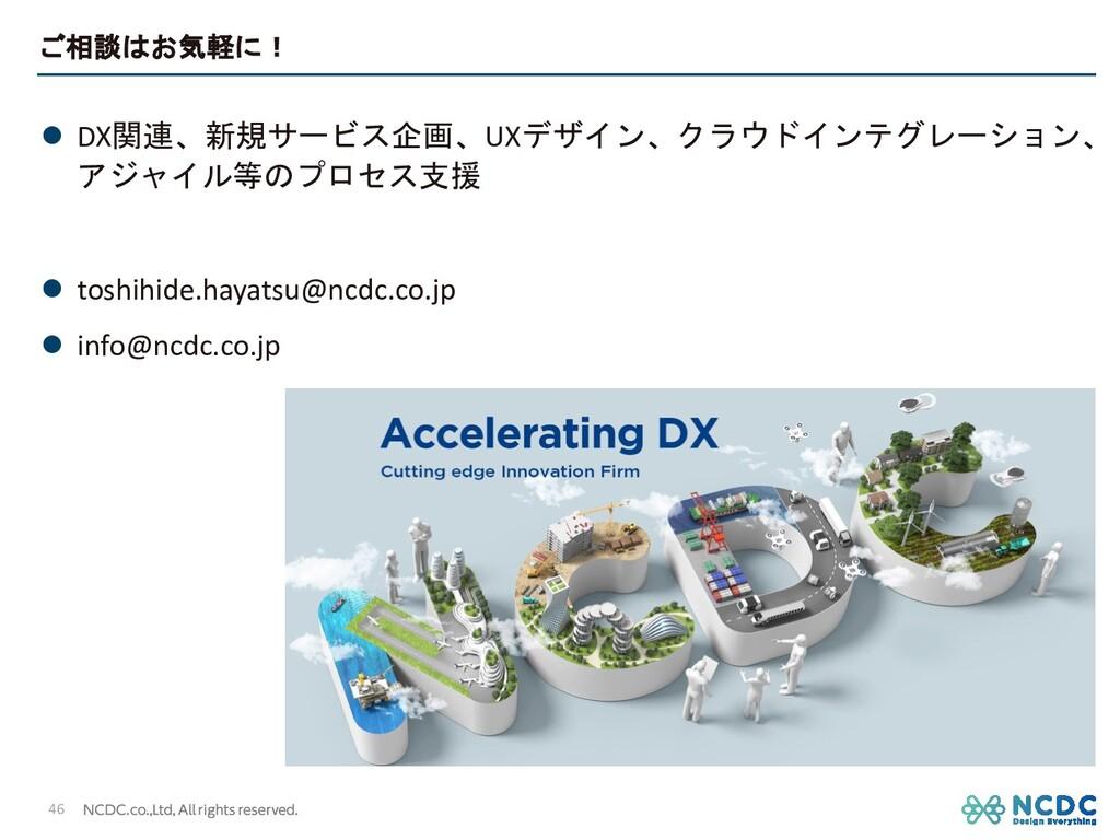 ご相談はお気軽に! l DX関連、新規サービス企画、UXデザイン、クラウドインテグレーション、...