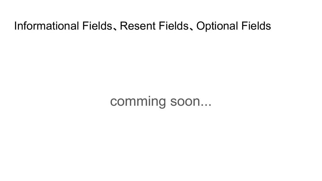 Informational Fields、Resent Fields、Optional Fie...