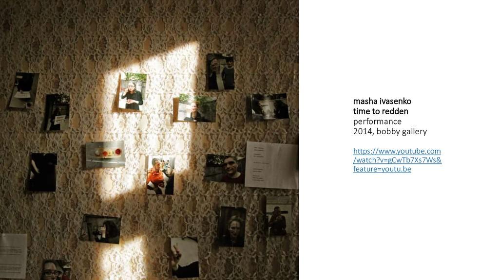 masha ivasenko time to redden performance 2014,...