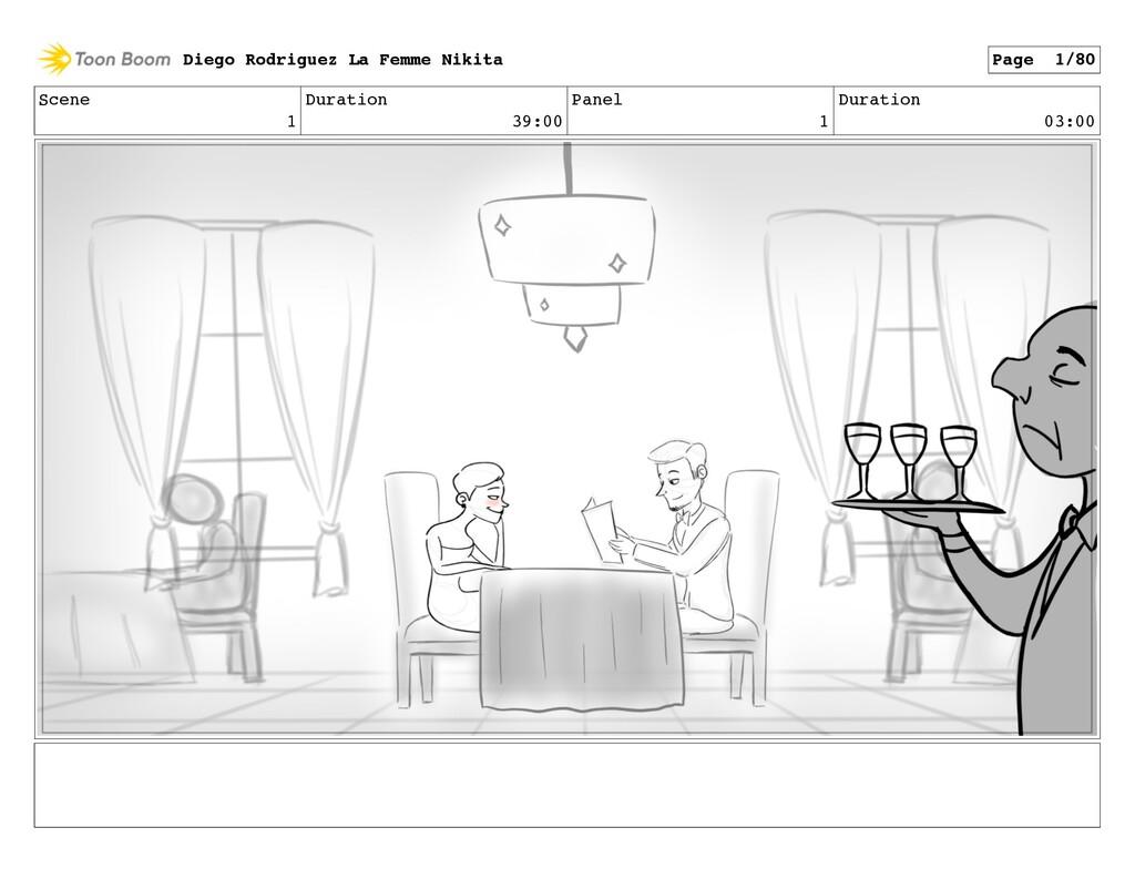 Scene 1 Duration 39:00 Panel 1 Duration 03:00 D...